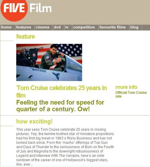 Features - Tom Cruise celebrates 25 years
