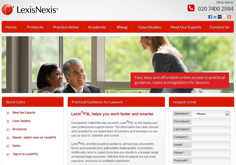LexisPSL-homepage