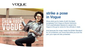 Boots Opticians Vogue